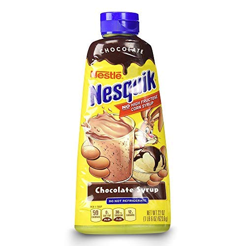Nesquick Chocolate Syrup - Low Fat, No High Fructose, Classic Chocolate Flavour - 623g from Nestlé