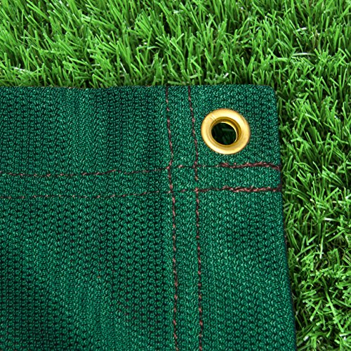 Archery Back Stop Netting *Premium Grade* (Green / White) (Choice of 6 Different Sizes) [Net World Sports] (Green, 10ft x 10ft) from Net World Sports