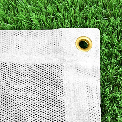 Archery Back Stop Netting *Premium Grade* (Green / White) (Choice of 6 Different Sizes) [Net World Sports] (White, 10ft x 30ft) from Net World Sports