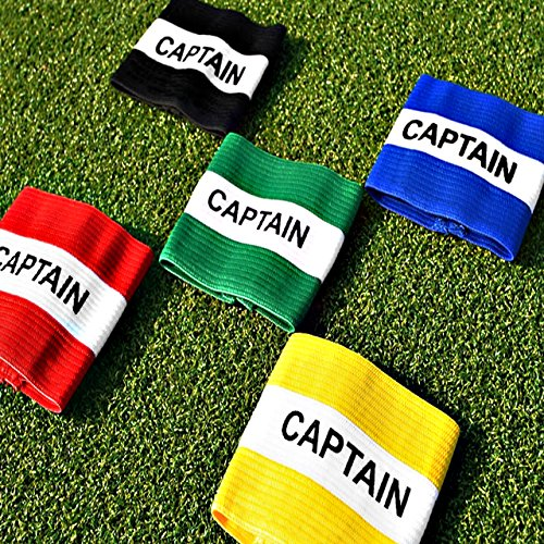 Captains Armband [Net World Sports] (Green/White Captains Armband - Junior) from Net World Sports