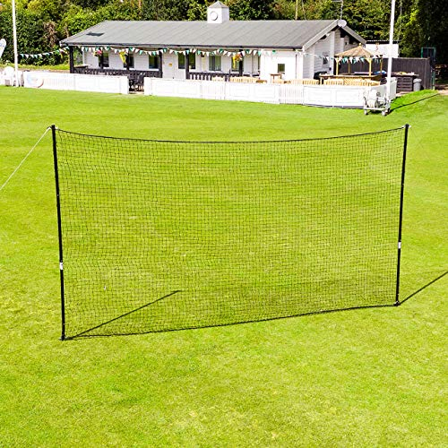FORTRESS Cricket Throw Down Net - 9ft Tall Portable Net & Steel Poles (13ft (2 Poles)) from FORTRESS