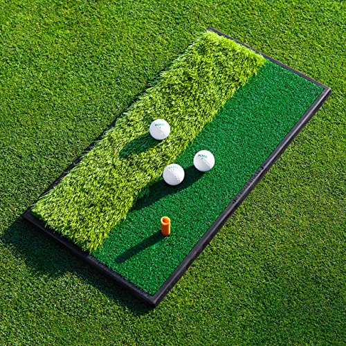FORB Launch Pad Golf Practice Mat (Fairway/2-in-1) (60cm x 30cm) - Mini Golf Mat Choose From Realistic Fairway & Semi-Rough Lies (2-in-1) from FORB