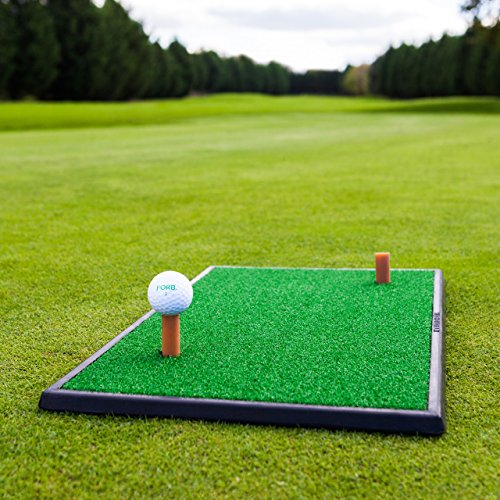 Net World Sports FORB Launch Pad Golf Practice Mat (Fairway) (60cm x 30cm) - Mini Golf Mat Creates Realistic Fairway For Practise & Protects Your Lawn from Net World Sports