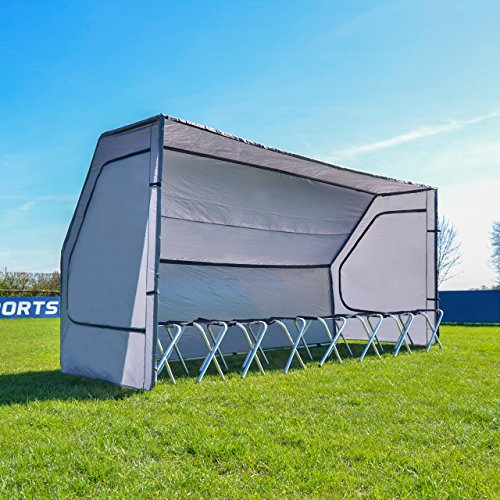 Net World Sports Portable Multi-Sport Team Shelter | Optional 8-Seat Bench Available (Shelter & 8 Seat Bench) from Net World Sports
