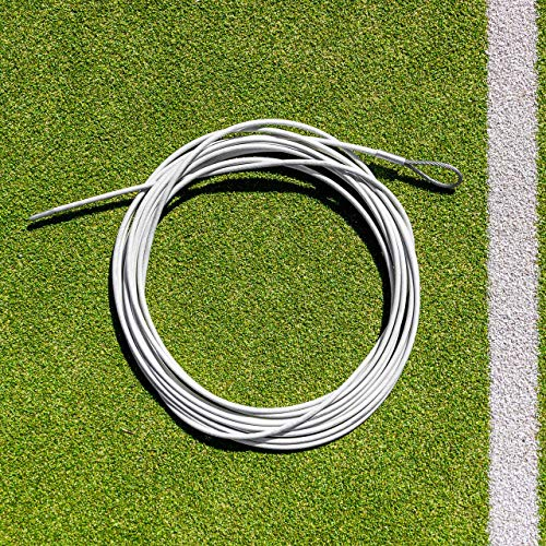 Vermont Tennis Net Headline Wire Cable - 33ft & 42ft Wide Nets - Loop & Pin or Double Loop (Loop & Pin, 33ft Singles Net) from Vermont