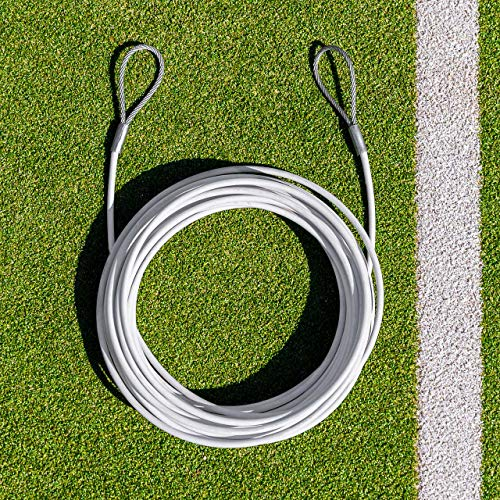 Vermont Tennis Net Headline Wire Cable - 33ft & 42ft Wide Nets - Loop & Pin or Double Loop (Double Loop, 42ft Doubles Net) from Vermont