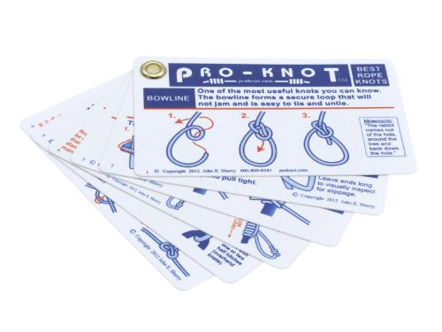 "Pro-Knot ""Best Outdoor Knots"" Pocket Guide Knots - made from durable plastic, waterproof from NetKnots"
