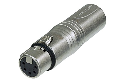 Neutrik NA3M5F 3 Pole Male XLR to 5 Pole Female XLR DMX Adaptor. from Neutrik