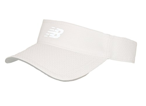 New Balance Adult Performance Sport Visor Headwear, White, One Size from New Balance