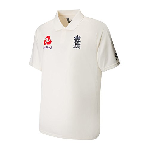 New Balance Men's ECB Replica Test Short Sleeve Polo Top, Angora, Small from New Balance