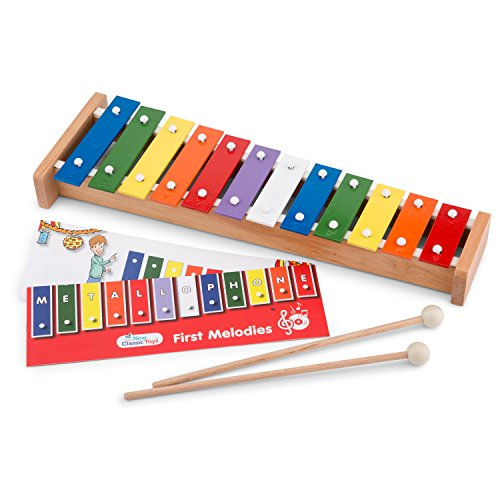 New Classic Toys - 10218 - Musical Toy Instruments - Metallophone with Music Book from New Classic Toys