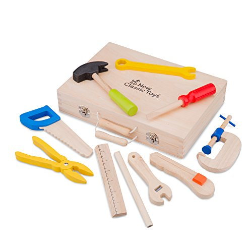 New Classic Toys - 18280 - Pretend Play - Tool Box - 10 pieces from New Classic Toys