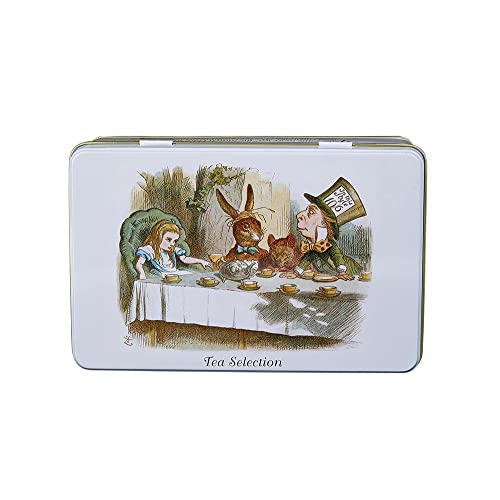New English Teas Alice's Adventures in Wonderland Selection Tin 200 g (Pack of 1, Total 100 Teabags) from New English Teas