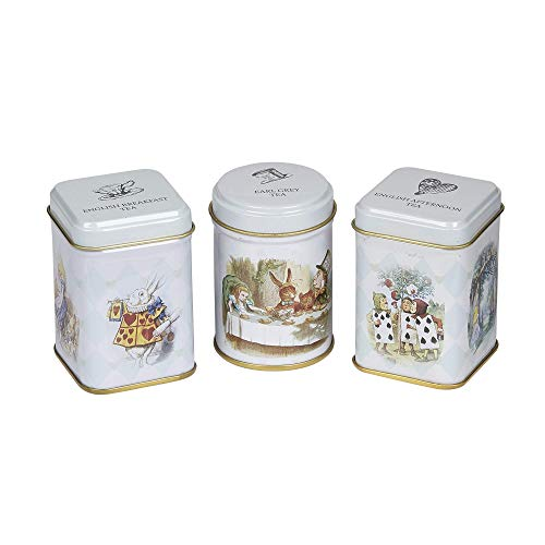 New English Teas Alice's Adventures in Wonderland Triple Mini Tin Gift Pack 70 g from New English Teas