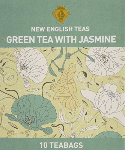 New English Teas English Garden Green Tea with Jasmine 10 Teabags (Pack of 6, Total 60 Teabags) from New English Teas