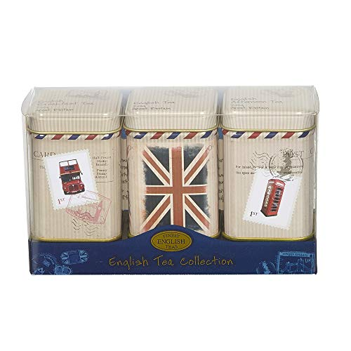 New English Teas Travel Collection Loose Tea Mini Tin Triple Pack 75 g from New English Teas