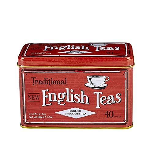 New English Teas Vintage Selection English Breakfast Teabags (Pack of 1, Total 40 Teabags) from New English Teas