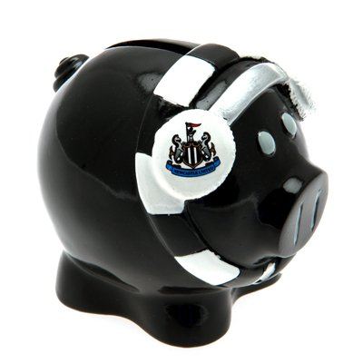 Newcastle United FC Money Box (Small Piggy Bank with Ear Muffs) from Newcastle United F.C.