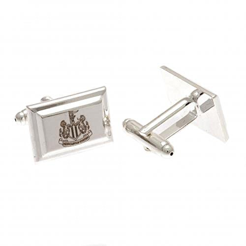 Official Newcastle United FC Silver Plated Cufflinks from Newcastle United F.C.