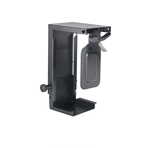Newstar CPU-D075BLACK Under Desk PC Mount (Suitable PC Dimensions - Height: 20-36 cm / Width: 5-10 cm) - Black from Newstar