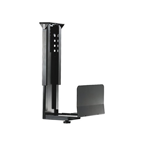 Newstar CPU-D200BLACK Under Desk PC Mount (Suitable PC Dimensions - Height: 39-54 cm / Width: 13-23 cm) - Black from Newstar