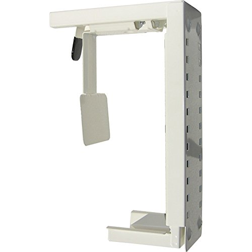 Newstar CPU-D100WHITE Under Desk & On-Wall PC Mount (Suitable PC Dimensions - Height: 30-53 cm / Width: 8-22 cm) - White from Newstar