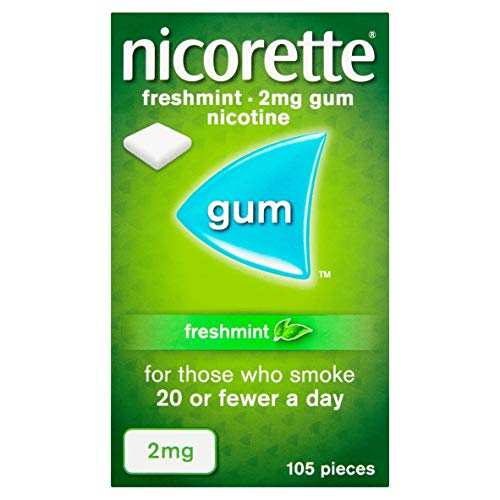 Nicorette Freshmint Gum 2 mg, 105 Pieces from Nicorette