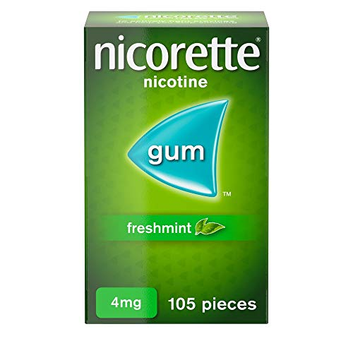 Nicorette Fresh Mint Chewing Gum, 4 mg, 105 Pieces (Stop Smoking Aid) from Nicorette