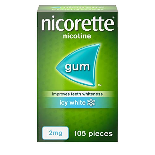 Nicorette Icy White Gum 2 mg, 105 Pieces from Nicorette