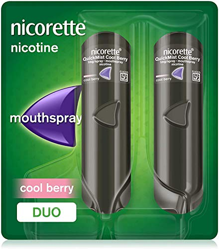 Nicorette Quickmist Mouthspray Duo Pack, Cool Berry, 1 mg (Stop Smoking Aid) from Nicorette