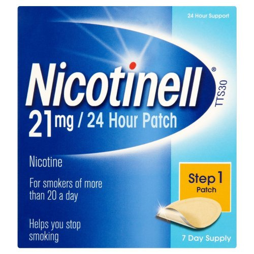 Nicotinell Nicotine Patches, Stop Smoking Aid (21 mg, 24-Hour, Step 1, 7-Day) from Nicotinell