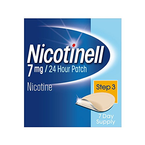 Nicotinell Nicotine Patches, Stop Smoking Aid (7 mg, 24-Hour, Step 3, 7-Day) from Nicotinell