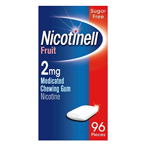 Nicotinell Nicotine Gum, Stop Smoking Aid (2 mg, Fruit, 96-Piece) from Nicotinell