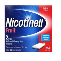 Nicotinell Fruit 2mg Gum 204 Regular Strength from Nicotinell
