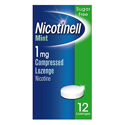 Nicotinell Nicotine Lozenges, Stop Smoking Aid (1 mg, Sugar Free, Mint, 12-Piece) from Nicotinell