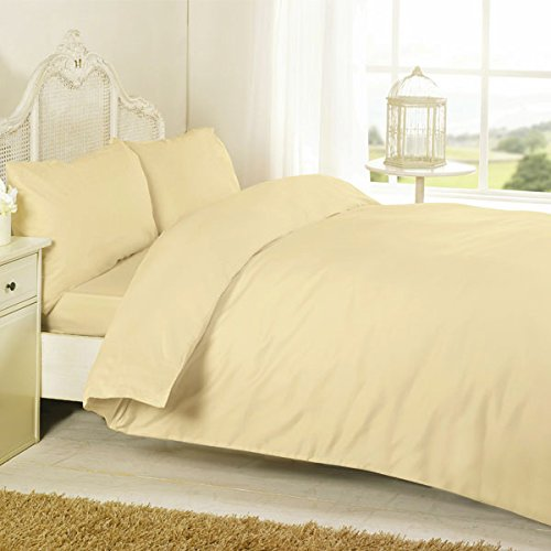 Night Zone 100% Egyptian Cotton 200 Thread Count Duvet Cover Set, Latte, Cot Bed from Night Zone
