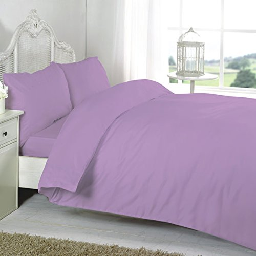 Night Zone 100% Egyptian Cotton 200 Thread Count Duvet Cover Set, Lilac, Cot Bed from Nightzone