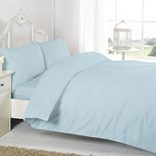 Night Zone 100% Egyptian Cotton 200 Thread Count Extra Deep Fitted Sheet, Aqua, Double from Night Zone