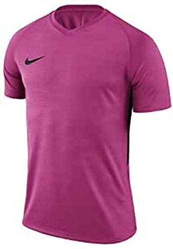 Nike Men's M NK Dry Tiempo PREM JSY SS Short Sleeve Top, Vivid Pink/Black, Large from Nike