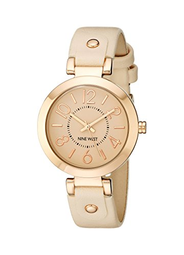 Nine West Women's NW/1712PKRG Rose Gold-Tone Case Blush Pink Strap Watch from Nine West