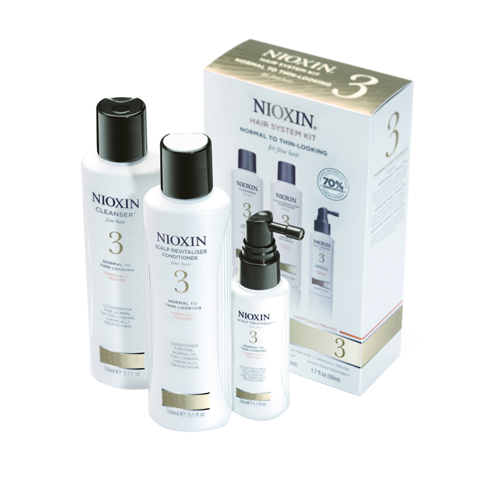 Nioxin Kit System 3 Trial Cleanser + Scalp Revitaliser + Scalp Treatment from Nioxin