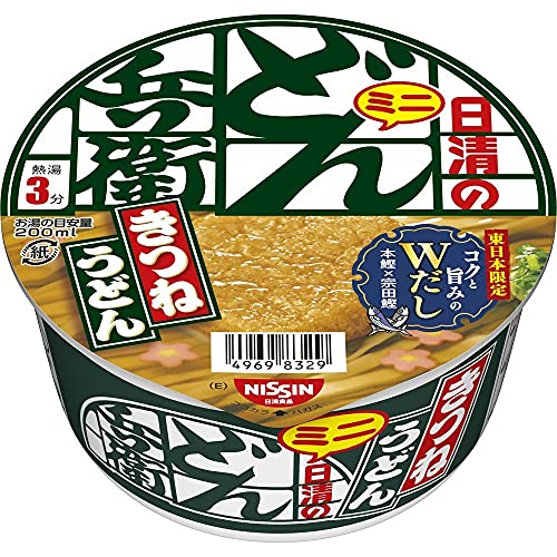 NISSIN Cup Noodles Donbe Kitsune Udon East Mini Ramen 42g×12 Japan from Nissin