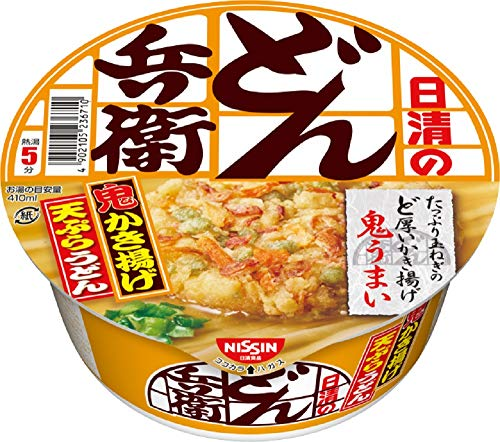 NISSIN Cup Noodles Donbe Tenpura Udon 97g×12 Japan from Nissin