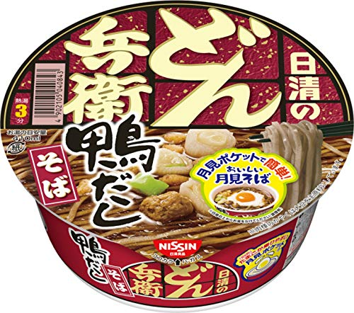NISSIN Donbe Cup Noodles Duck SOBA 105g×12 Japan from Nissin