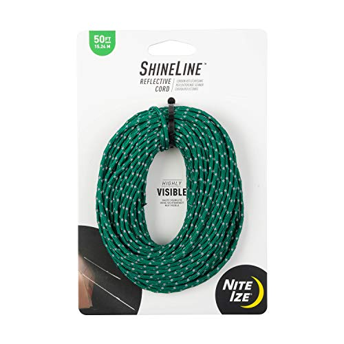 Nite Ize Unisex's Reflective Rope, Green, 50 ft from Nite Ize