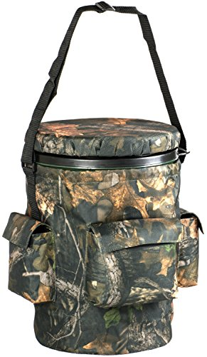 Nitehawk Spinning/Swivel Hunting Shooting Camo Bucket Seat With Storage Pockets from Nitehawk