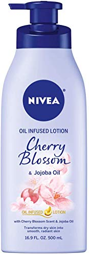 NIVEA Oil Infused Cherry Blossom and Jojoba Oil Body Lotion, 16.9 Fluid Ounce/500 ml from NIVEA