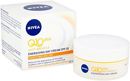 NIVEA Q10 + C Anti-Wrinkle + Energy Day Cream Pack of 3 (3 x 50ml), Energising Anti-Ageing Day Face Cream, Hydrating Formula, Anti-Wrinkle Cream with SPF 15 from NIVEA