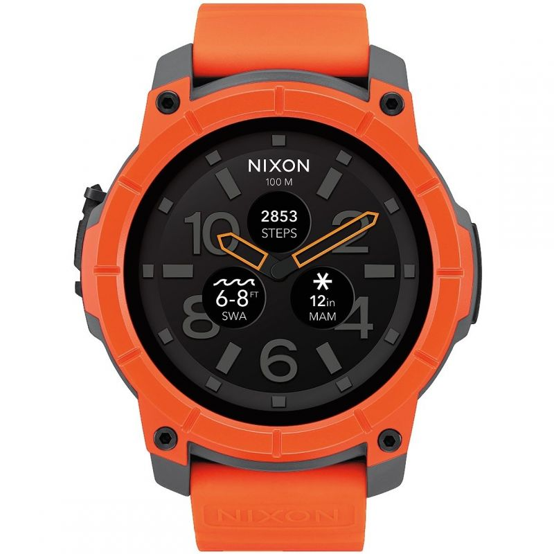 Mens Nixon The Mission Android Wear Bluetooth Smart Alarm Chronograph Watch from Nixon