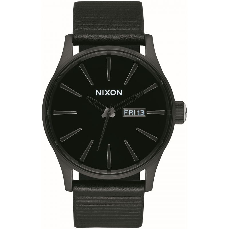 Mens Nixon The Sentry Leather Watch from Nixon